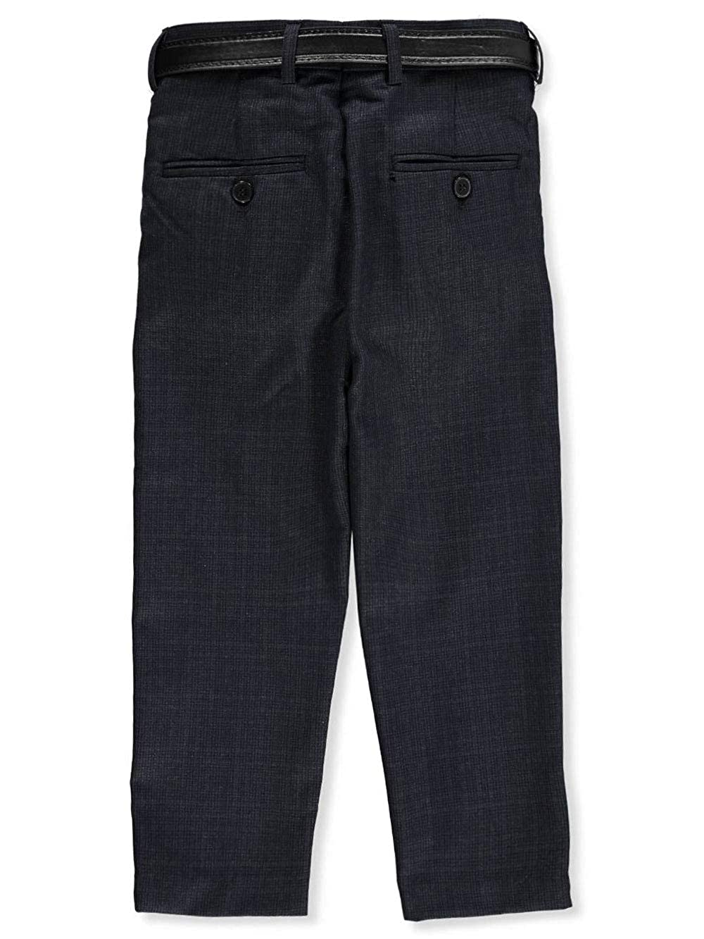 Alberto Danelli Boys Slim Belted Flat Front Dress Pants