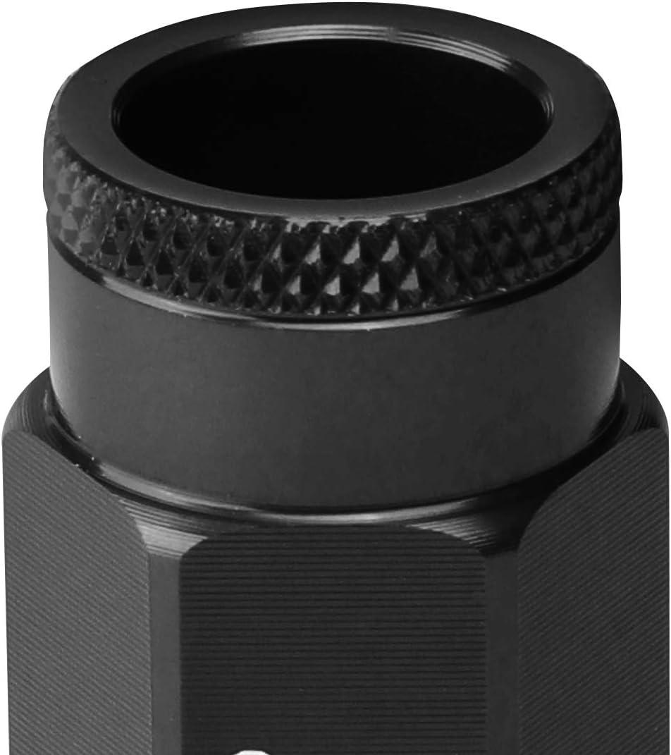 J2 Engineering 7075-T6 Aluminum M12x 1.25 20Pcs 50mm Tall Open-End Lug Nut w//Socket Adapter Red