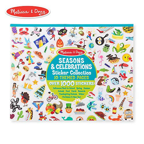 Melissa & Doug Sticker Collection Book: 1,000 Plus Stickers - Seasons and Celebrations, Multicolor -