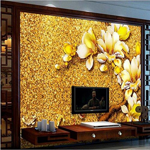 Shah Grote Aangepaste Achtergrond Magnolia Kleur Carving