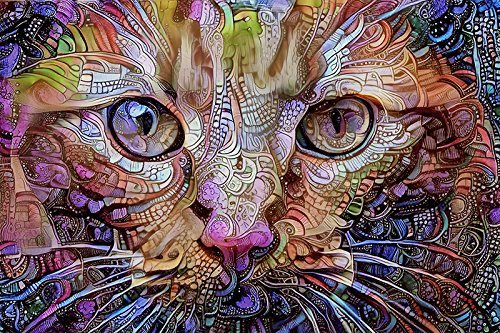 Orange Cat Fine Art Print - Colorful Psychedelic Wall Decor Art -