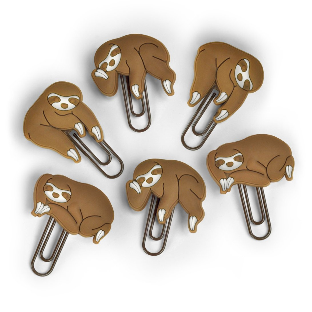 Fred Sloths ON A Vine Picture Hangers, Set of 6