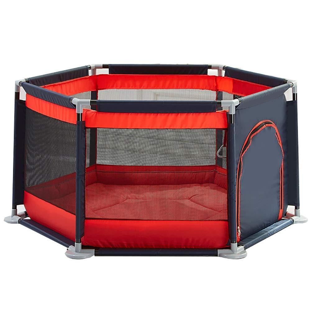 赤ちゃんの囲い 六角形の赤ちゃんの遊び場ポータブル赤いゲームヤード屋内と屋外の子供の活動センター安全なおもちゃのゲームのテント (色 : Style1)  Style1 B07K5WH6KK