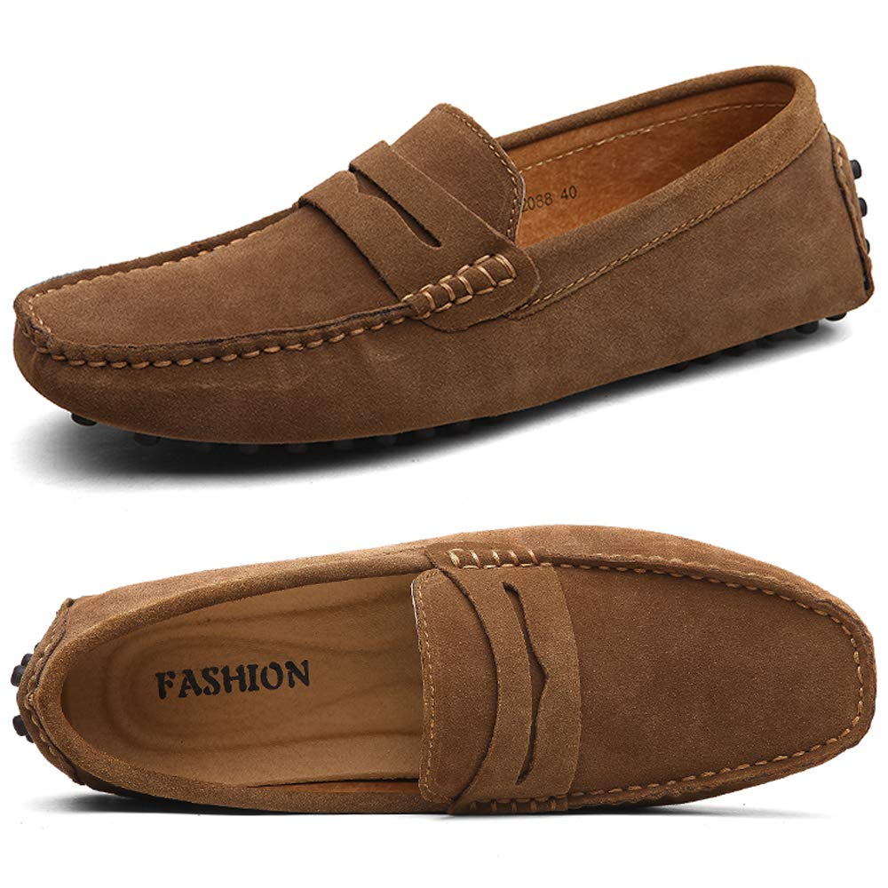 New Fashion Men/'s Moccasins Penny Driving Loafers Slip on Suede Leather Shoes