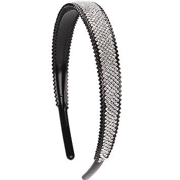 Amazon.com   LONEEDY 2cm Wide Full Rhinestone and Crystal Teeth Comb  Headbands For Women 2c912864815
