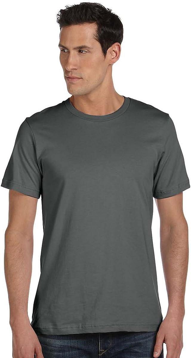 Jersey T-Shirt Bella 3001U Unisex Made in the USA 4.2 oz ASPHALT X-Large