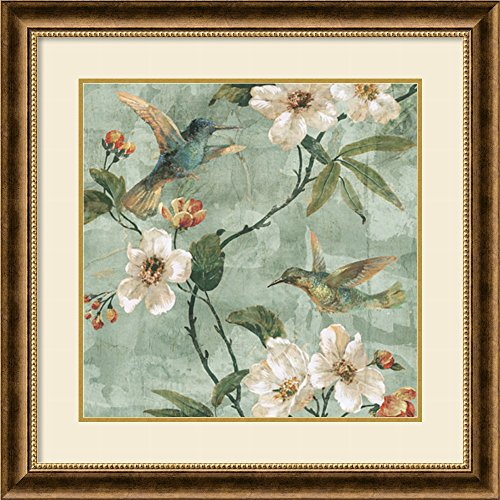 (Framed Art Print, 'Birds of a Feather II' by Renee Campbell: Outer Size 29 x 29