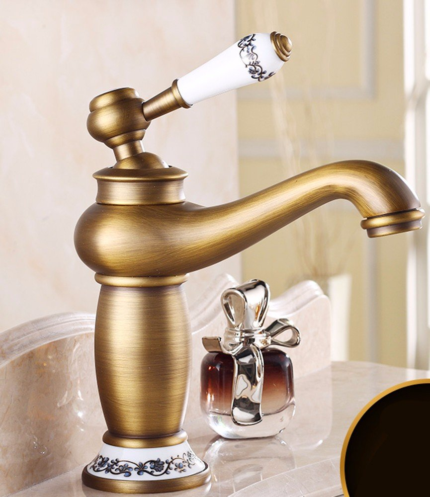 14 Hlluya Professional Sink Mixer Tap Kitchen Faucet Copper, cold and hot, Single Hole, vanity area, bathroom sink Faucet 10