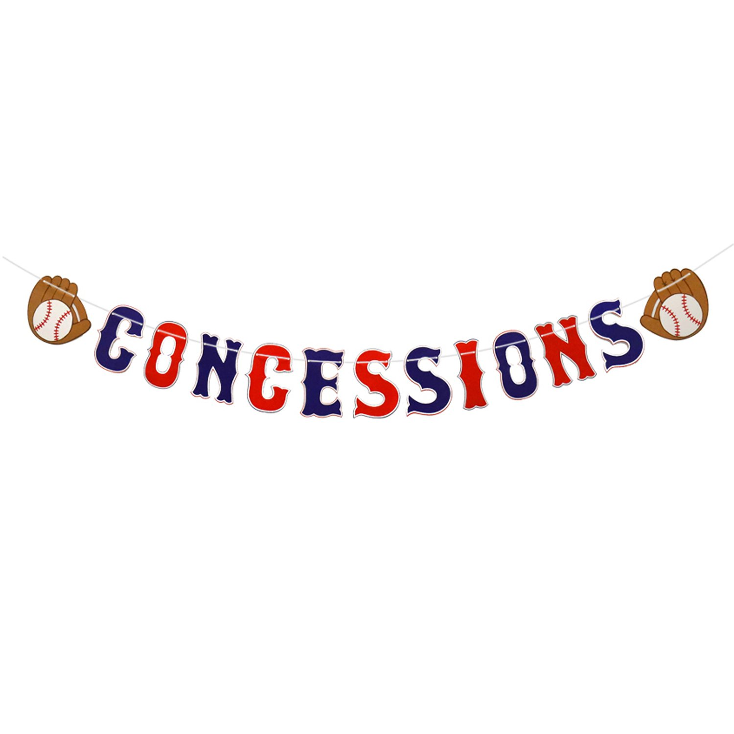 Baseball Theme Concessions Banner-Sports Party Decorations