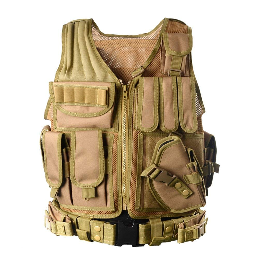 vAv YAKEDA Army Fans Tactical Vest Outdoor Equipment Supplies Breathable Lightweight Tactical Vest by vAv YAKEDA