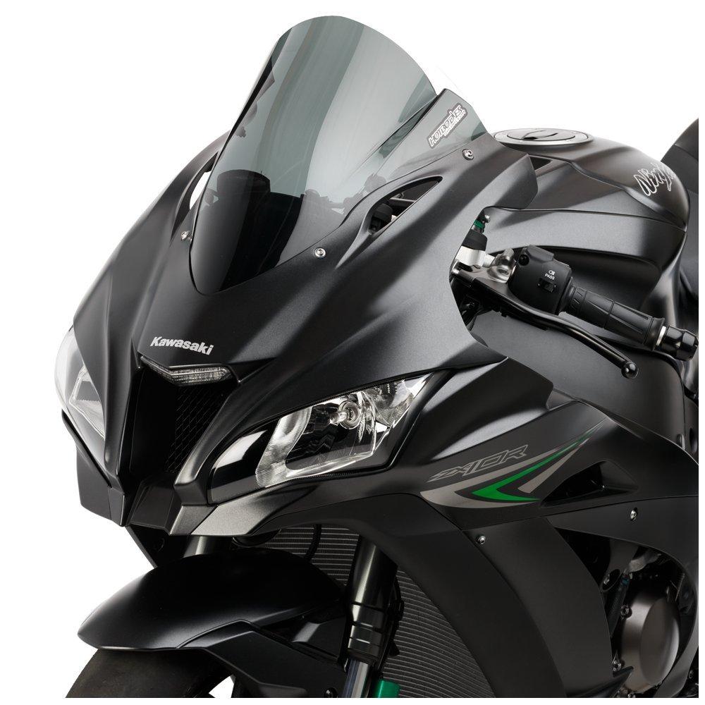 Hotbodies Racing 51601-1601 Dark Smoke GP Windscreen (KAW. ZX10R (2016') (Dual Radius)