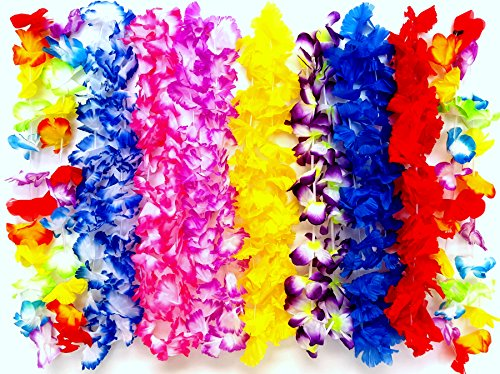 Playscene Hawaiian Luau Jumbo Silk Flower Leis Jumbo Silk (200) ()