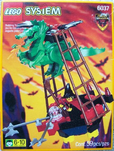 Lego System 6037 Witch's Windship Fright Knights (System Knights Lego)
