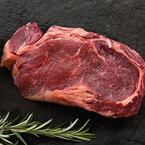 6 (8oz) Organic Grass-fed Ribeye Steaks - USDA certified organic, all natural, grass fed beef ribeye steak from american farmers by Greensbury Market