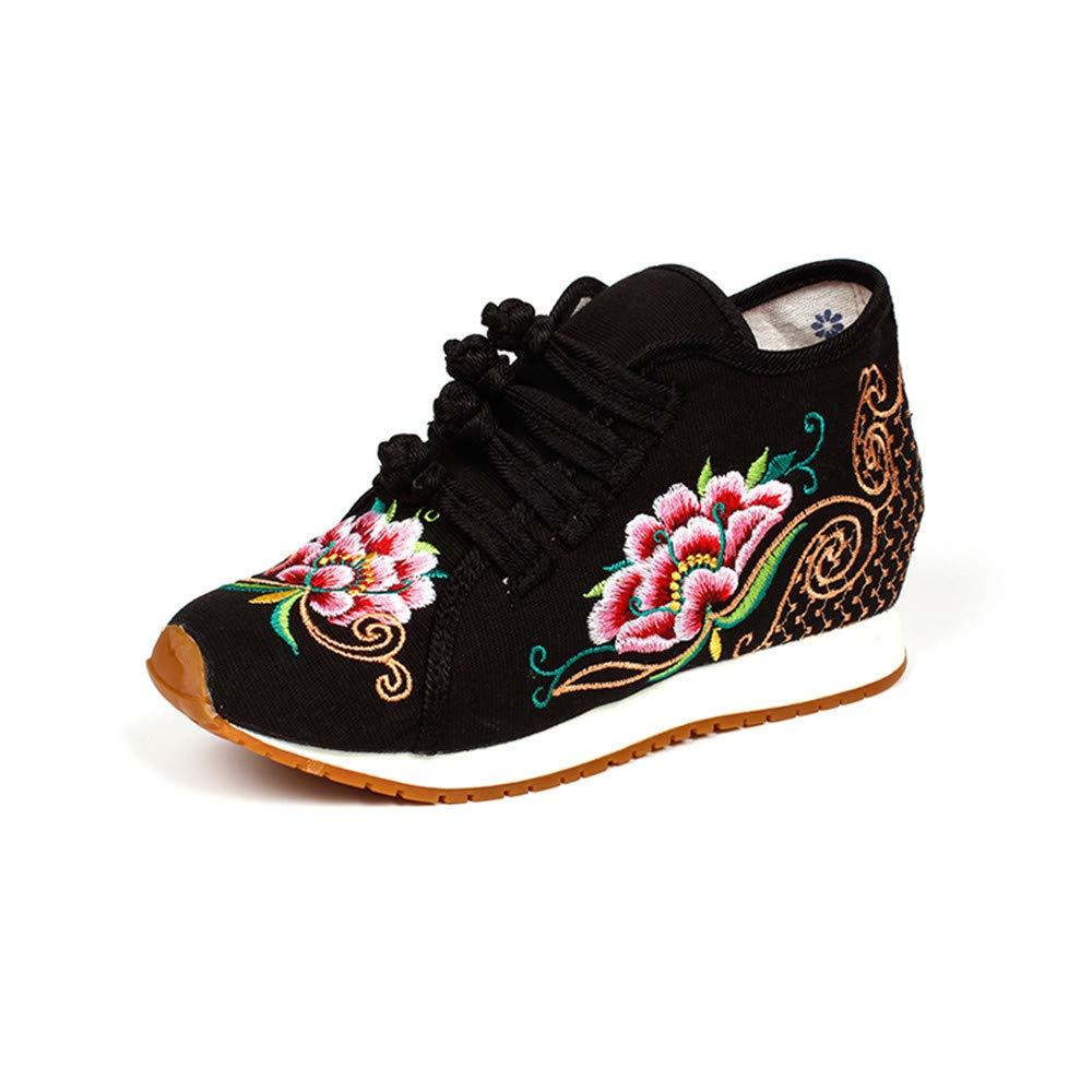 Chaussures de Chaussures Broderie 19887 Fleurs de Fleurs de Style Chinois Noir-shortplush 8cdfc1b - boatplans.space