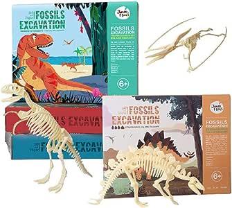 DOMOKI Kit de excavación de Dinosaurios,arqueología excavar ...