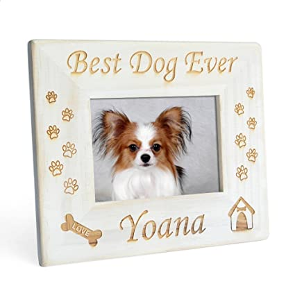 Amazon.com - Custom Vintage Dog Picture Frame, Best Dog Ever Photo ...