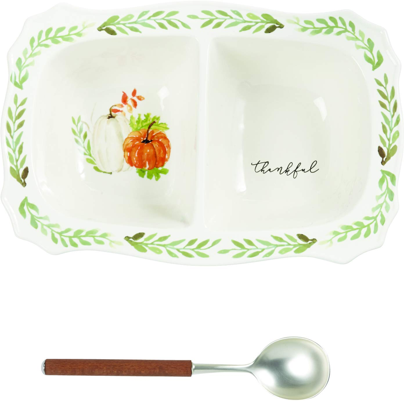 Gather Large Side Dish Server Set Mud Pie 40700028