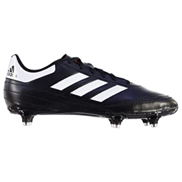 hot sale online e3367 04aea ADIDA Goletto SG Soft Ground Football Boots Mens BlkWht Soccer Cleats  Shoes (UK9