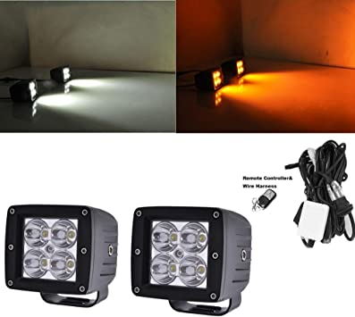 "2X 24W 3x3/"" LED Work Light Square Cube Spot Pods Offroad Ford Truck SUV ATV Boat"