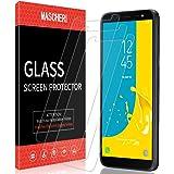 MASCHERI Protector de Pantalla para Samsung Galaxy J6 2018, [3-Unidades] Cristal Vidrio Templado Glass Screen Protector para Samsung J6 2018 - Transparente