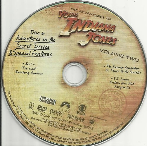 The Adventures of Young Indiana Jones Vol. 2 Disc 6 Replacement Disc!