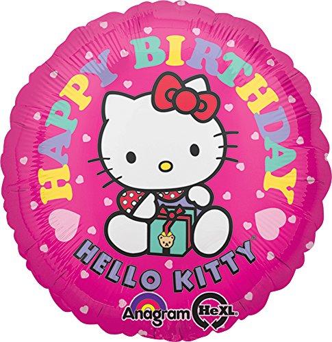 18 Inch Hello Kitty Flowers - Anagram International Hello Kitty Happy Birthday Foil Balloon Pack, 18