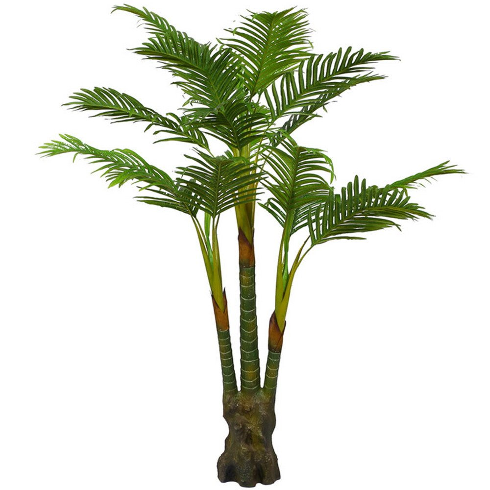 Artificial Palm Tree Decor - Realistic Faux Plant Palm Tree with Large Silk Leaves - Fake Plants Decor for House and Office - 4.65 Feet with No Pot Youz