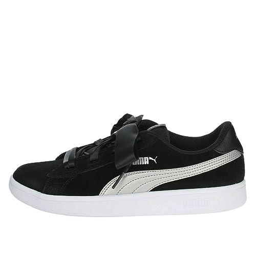 Puma Smash V2 Ribbon Jr, Sneakers Basses Mixte Enfant