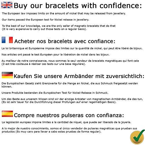MPS® Bracelet jonc, Bracelet magnétique à la mode, Avec six aimants--#N-BAC-2-MJUK