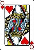 1/2 Sheet - Casino Poker Queen of Hearts Birthday - Cake Photo Frame - Edible Cake/Cupcake Party Topper!!!