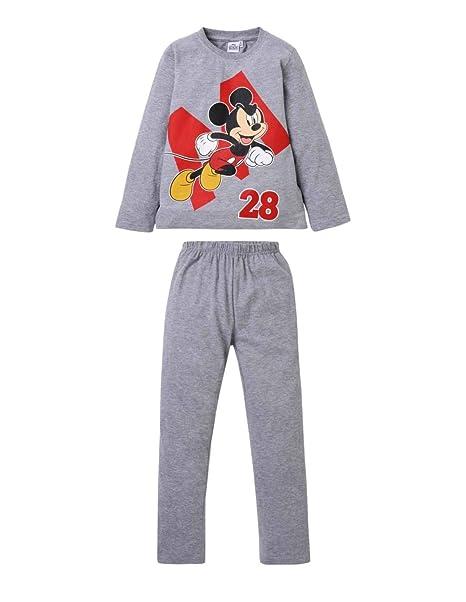 Mickey Mouse - Pijama Dos Piezas - para niño Gris 4 años