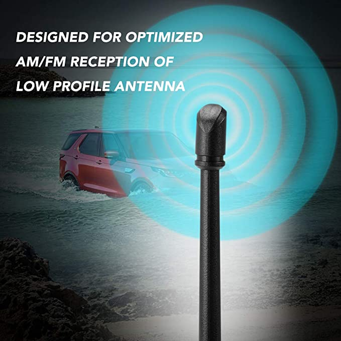"5/"" Stubby Carbon Fiber Aluminum Auto Car Short Antenna White Universal Screws Vb"