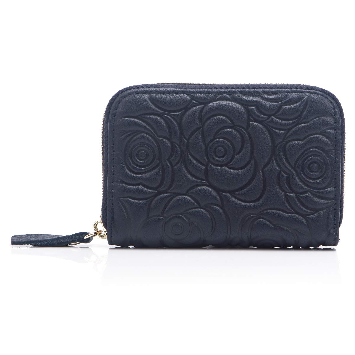 APHISONUK Women RFID Blocking Small Purse Leather Card Wallet Ladies Credit Card Holder Mini Travel Wallet for Girls(Black)/Gift Box 333R7110BLACK
