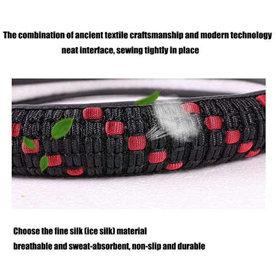 Amazon.com: ADHW Car Steering Wheel Cover,Ice Silk Universal 15 inch Anti Slip Heat Resistan Cold Resistant Automotive Interior Accessorie MTH-21 (Color ...