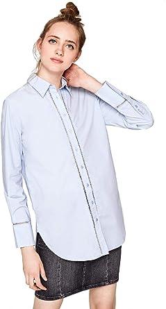 Pepe Jeans - Camisa Grazia Mujer Color: 501 LT Blue Talla: Size L: Amazon.es: Ropa y accesorios
