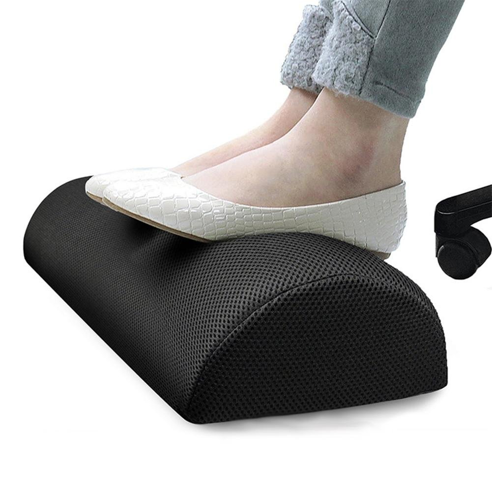 Gereton Foot Rest for Under Desk,Resilient Cotton Foot Rest Pillow, Portable Foot Stand Memory Foam Cushion for Office,Home and Travel 无