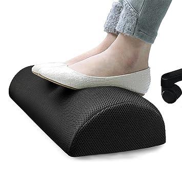 Reposapiés para Debajo del Escritorio, Almohada Resistente del Resto del pie del algodón, Soporte portátil del pie Cojín de la Espuma de la Memoria ...
