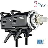 MS300 2psc Godox 2個 MSシリーズ 110v 300w 2.4Gワイヤレスリモコン 5600±200k 0.1〜1.8Sリサイクル時間 ラッシュスタジオランプ