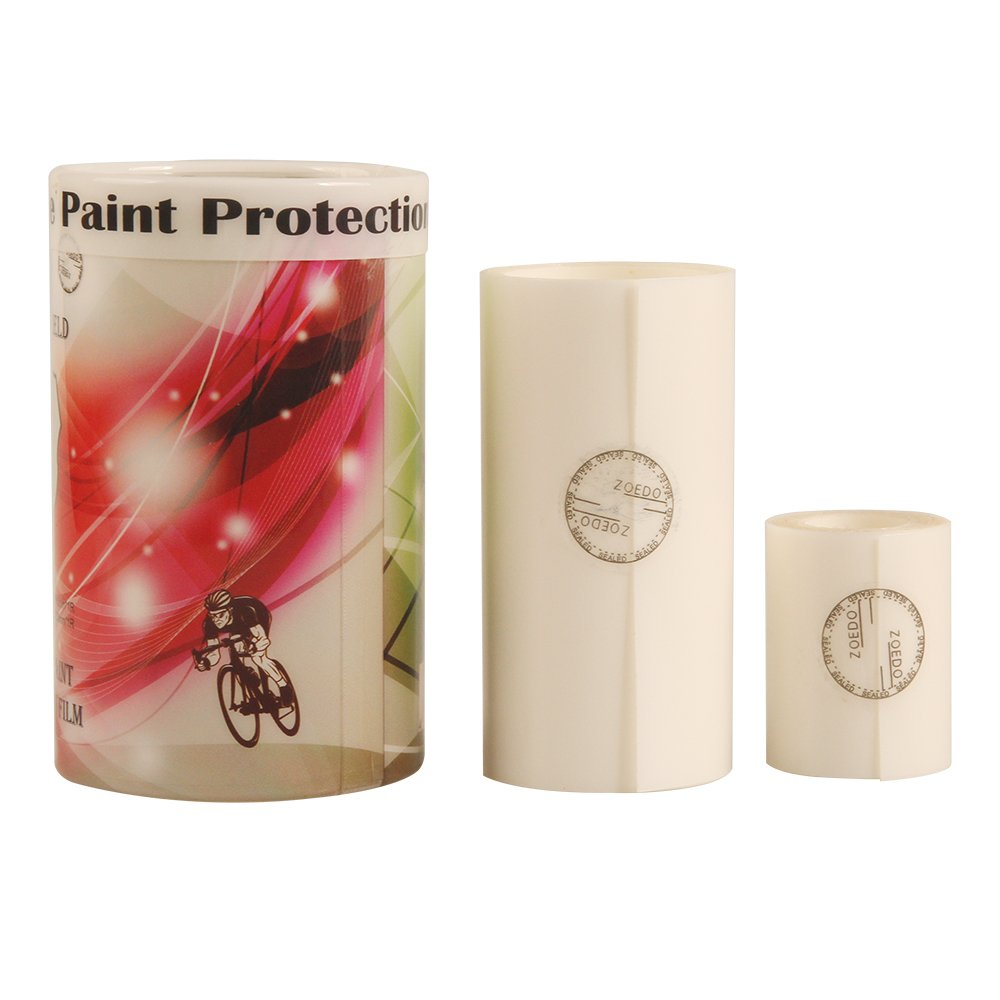 Bicycle Paint Protection Film, Universal Bike Frame Protection Tape, 3-1/5'' & 1-4/7'' Width, 5 Ft - 2 Rolls