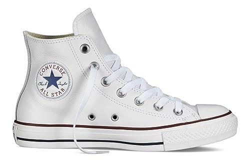 Converse Chuck Taylor All Star Hi - Zapatillas Mujer, Blanco (Weiß (Blanc)