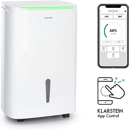 KLARSTEIN DryFy Connect 30 deshumidificador de Aire - WiFi, 230 m³/h, para Salas de 25-30 m², depósito para Agua de 5 litros, Humedad deseada Regulable, silencioso, Rendimiento de 30 l/día, Blanco: Amazon.es: Hogar