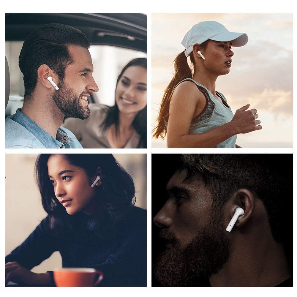 Bluetooth Headset 5.0 Kabelloses Bluetooth Headset X10 Mini-In-Ear-Kopfh/örer Stereo-Ohrh/örer Sportkopfh/örer mit integriertem Mikrofon Tragbare Ladetasche f/ür Android iOS Huawei Samsung