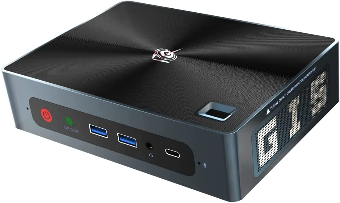 Beelink GTI Mini PC(Intel i5-8259U 4-Core, 8GB DDR4 RAM, 256GB NVME SSD) High Performance Home and Business Desktop Computer,WiFi 6,BT5.0,Fingerprint Identification,Support Auto Power On