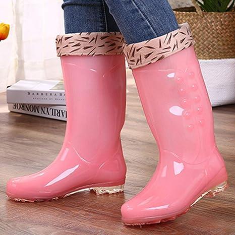 Da Donna Tacco Alto Stivali di Gomma Stivali Wellington