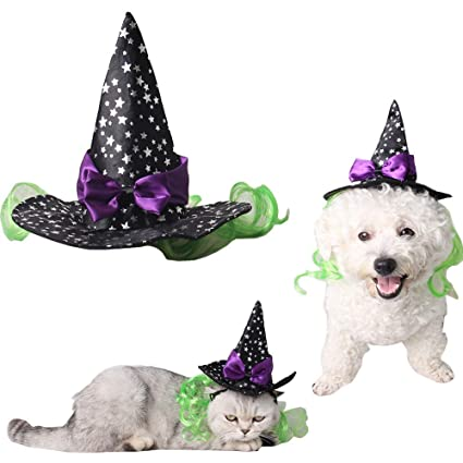 Christmas Hats For Dogs.Hxinfu Pet Christmas Cat Hat Christmas Hats For Dogs Christmas Witch Hat Cute