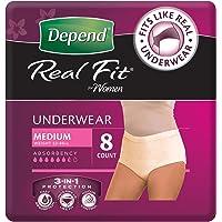 Depend Active Fit Underwear for Women Medium
