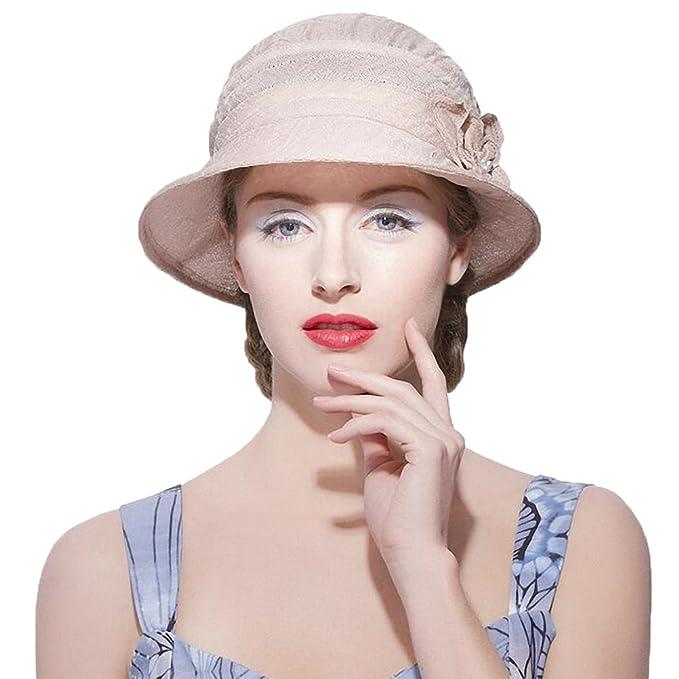 0713193eabb Maitose Women s Sun Protection Bucket Hat Beige at Amazon Women s ...