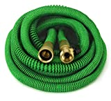 GrowGreen Hoses, Expandable Garden Hose, Water Hose with High Pressure Hose Spray Nozzle, Flexible Garden Hose with All Brass Connectors, Leak Proof,and Durable Expanding Garden Hose