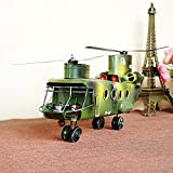 BWLZSP 1 PCS Hercules U.S. armed helicopters Handcrafted iron military model Creative home window decorations AP5291613
